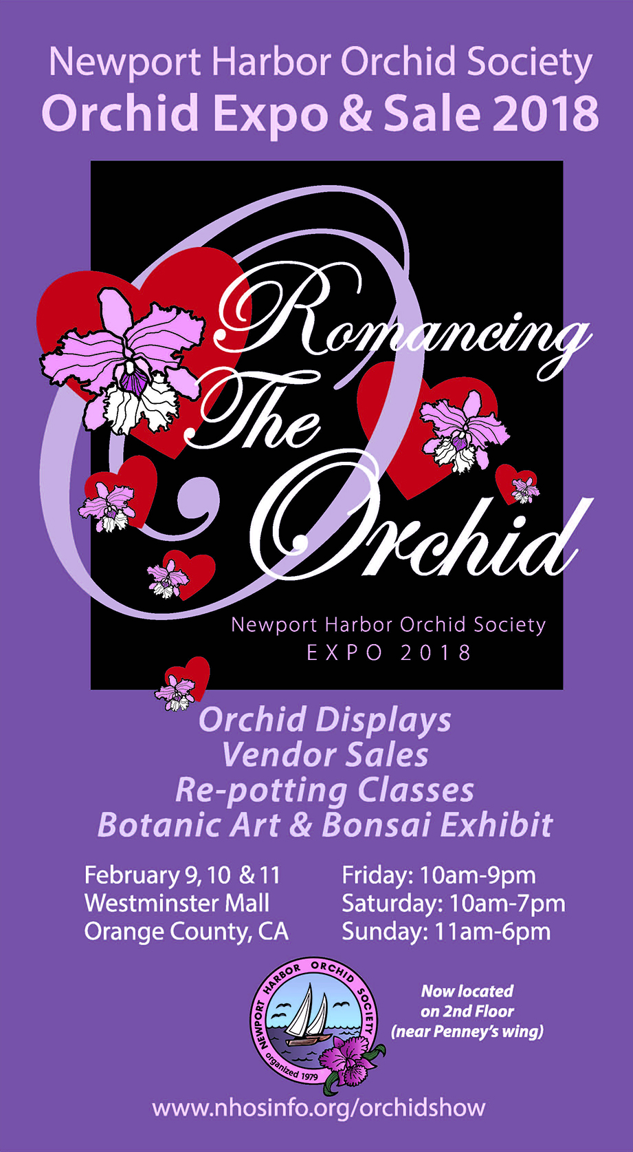 <b>Romancing the Orchid<br>2018 Show & Sale<BR>February 9-11, 2018<br></b>