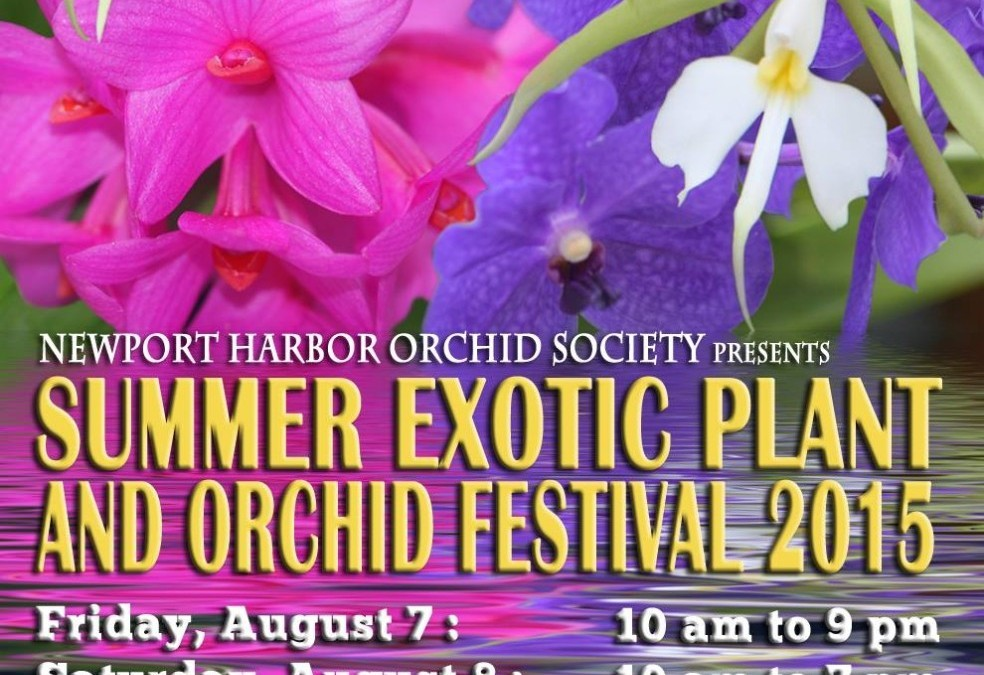 Exotic Plant and Orchid Festival 2015