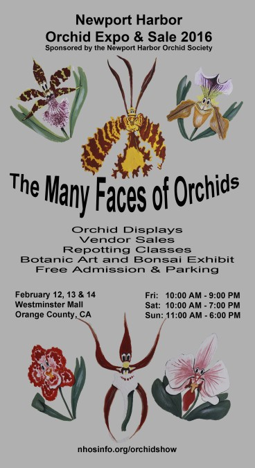 Newport Harbor Orchid Expo and Sale 2016