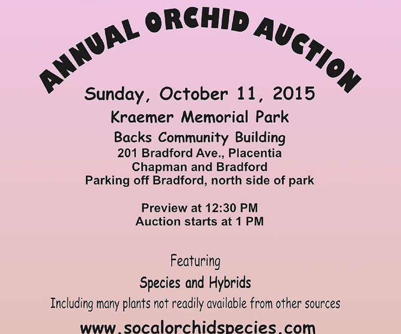 Southern California Orchid Species Annual Auction 2015