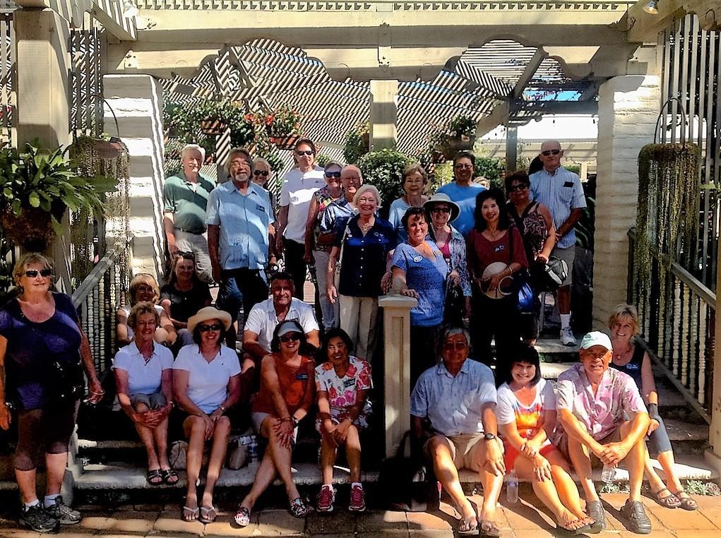 group photo at sherman gardens